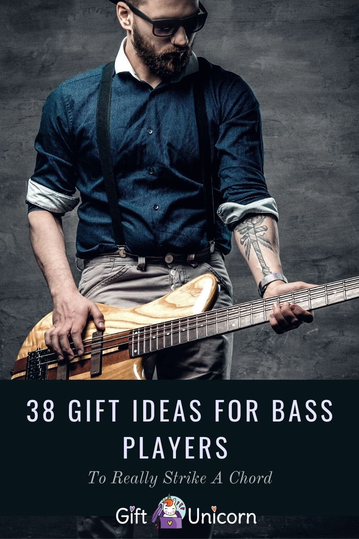 38 bass player gifts pin image