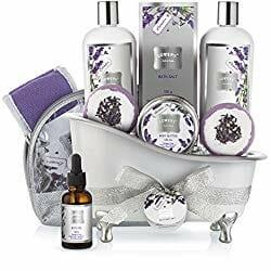 bathtub gift basket