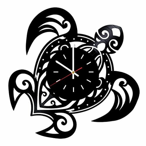 beach vinyl wall clock