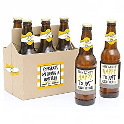 beer bottle label stickers and carrier