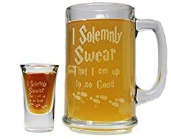 beer mug and shot glass