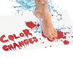 bloody color bath mat