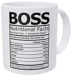 boss nutritional facts mug