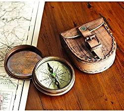 brass poem compass