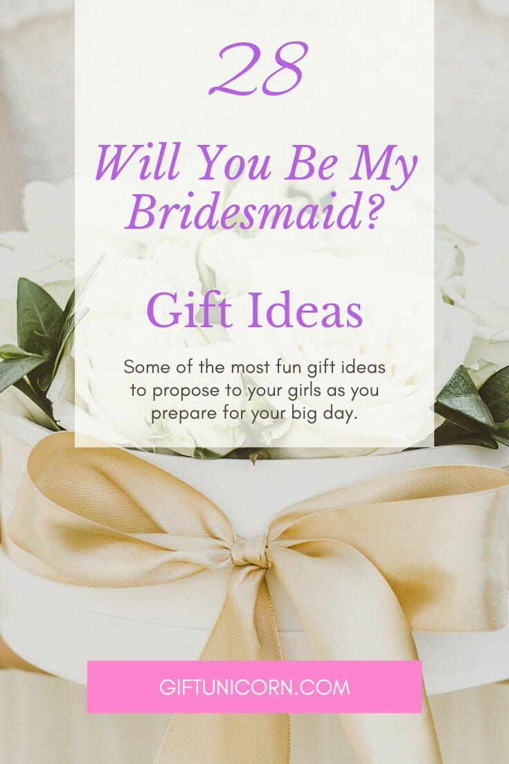 will you be my bridesmaid proposal gift ideas pin image