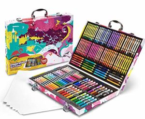 crayons colored suitcase