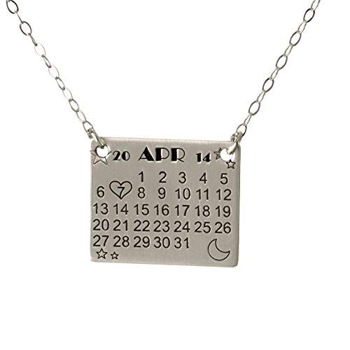 calendar necklace
