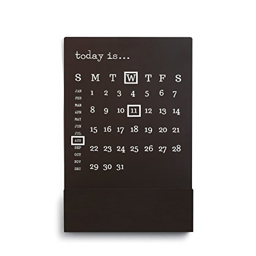 calendar with magnet markers