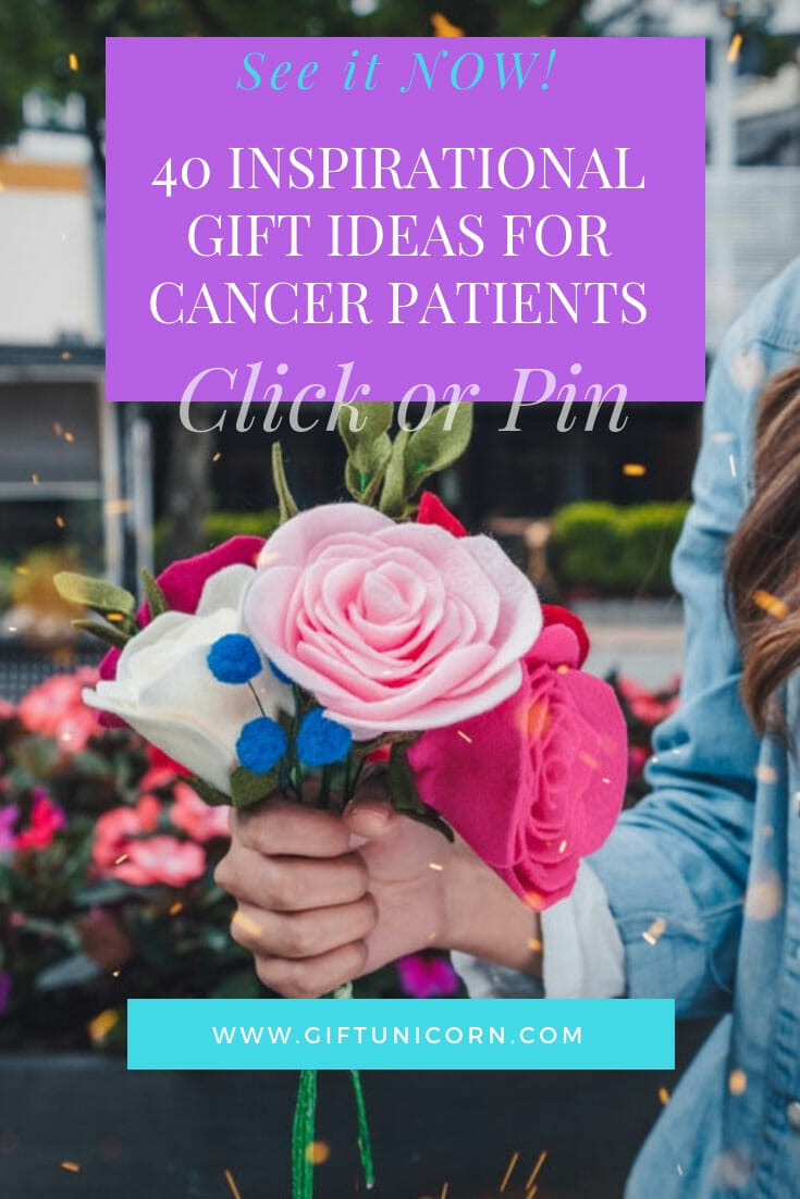cancer patients gift ideas pin image
