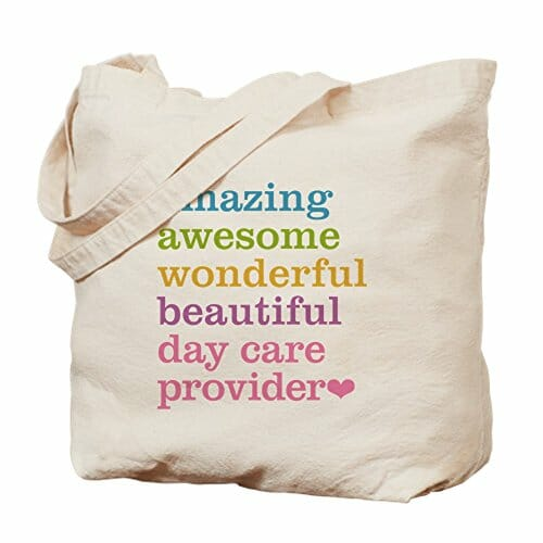 canvas bag for daycare providers