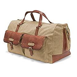 canvas long weekender bag