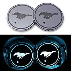 car logo LED cup coaster