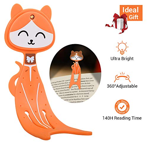 cat-shaped LED book light