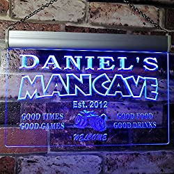 cave bar personalized neon sign