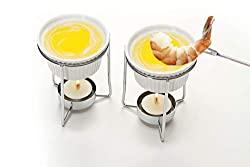 ceramic butter warmer fondue set