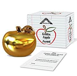 ceramic gold apple teacher gift