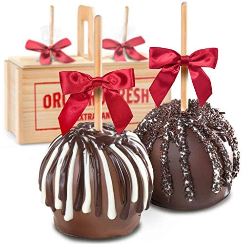 chocolate dipped caramel apples