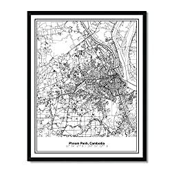 city view map print