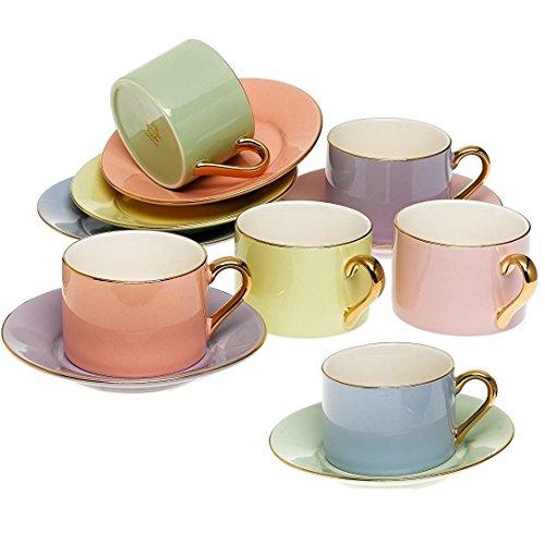 coffee and tea cups set