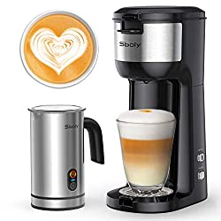coffee maker and milk frother