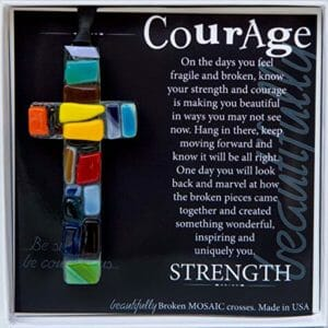 Courage catholic cross novelty gift