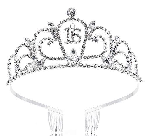 crystal floral heart tiara