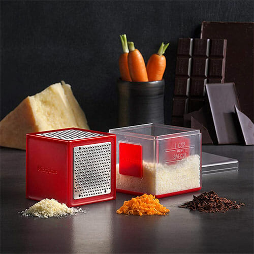 cube grater with grated cheese