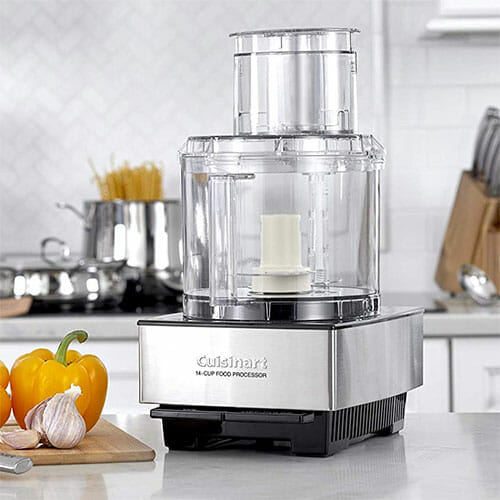 cuisinart food processor on a kitchen countertop