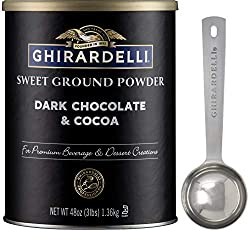 dark chocolate and cocoa power
