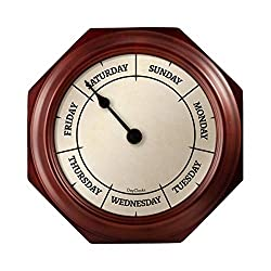 day of the week wall clock