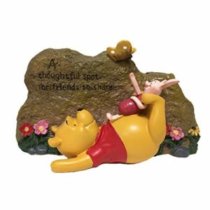 decorative pooh garden rock