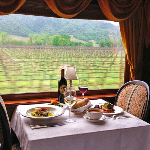lunch in train