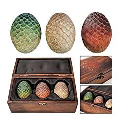 dragon egg set in wooden box