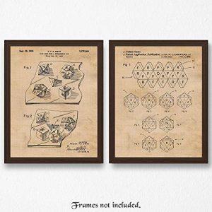 D&D dice patent poster prints