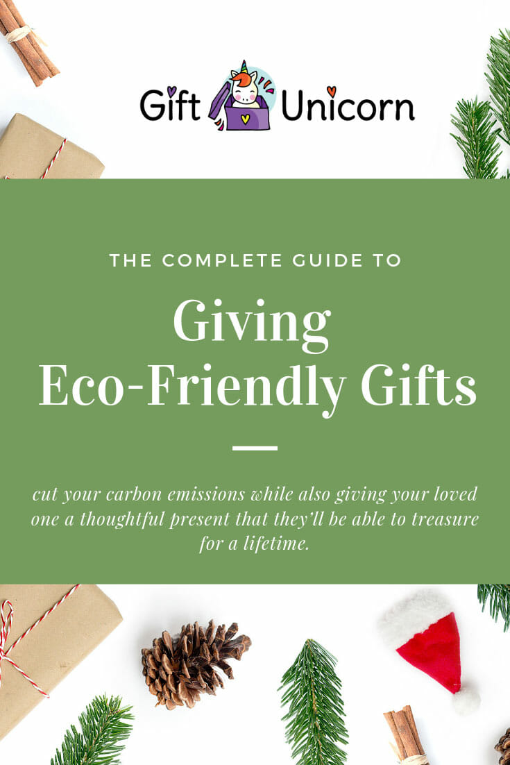 eco friendly gift giving guide pin image