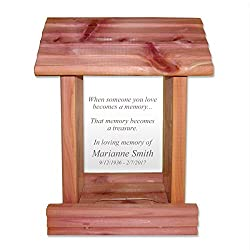 engraved memorial bird feeder