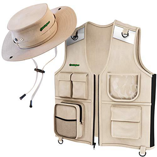 explorer vest and hat