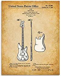 fender bass guitar patent print