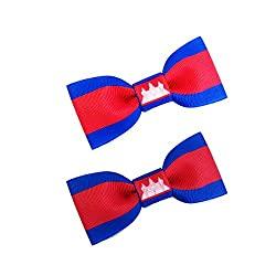 flag hair bows
