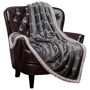 fleece sherpa throw blanket