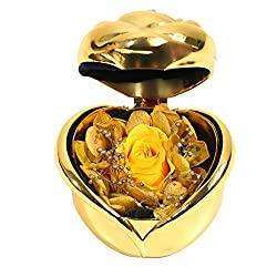 flower rose in ring box