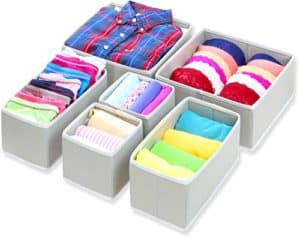 foldable cloth storage bins set