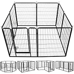 foldable metal puppy fence