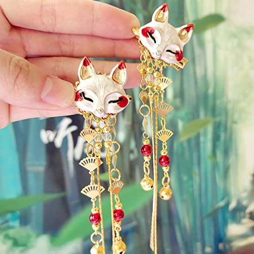 fox enamel hair pins