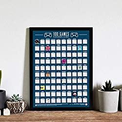games bucket list scratch poster