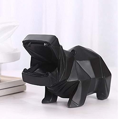 geometric hippo piggy bank