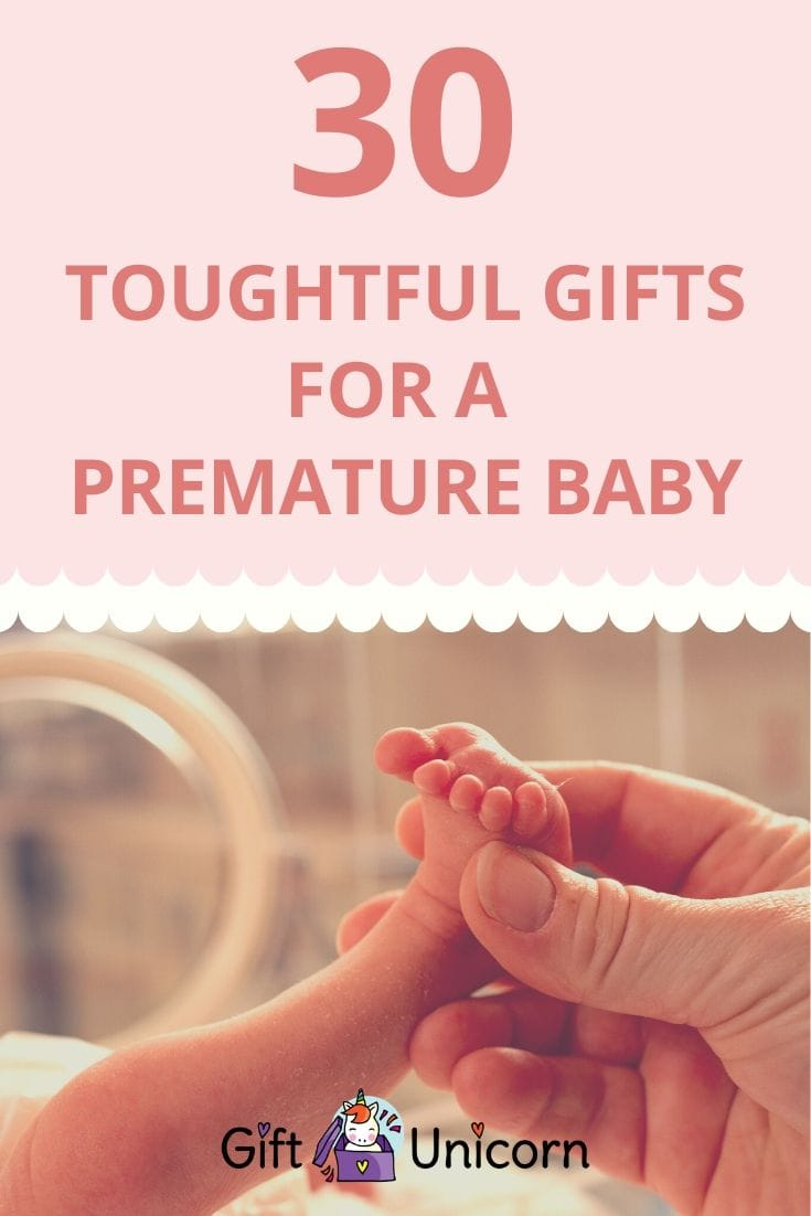 30 thoughtful gifts for a premature baby pin image