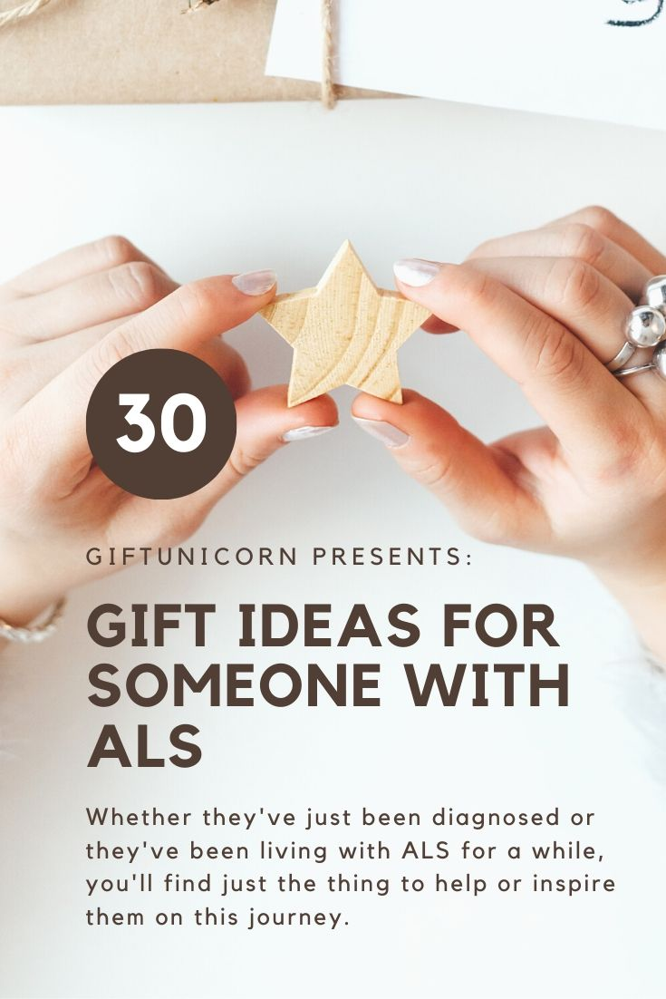 30 gift ideas for someone with ALS pin image