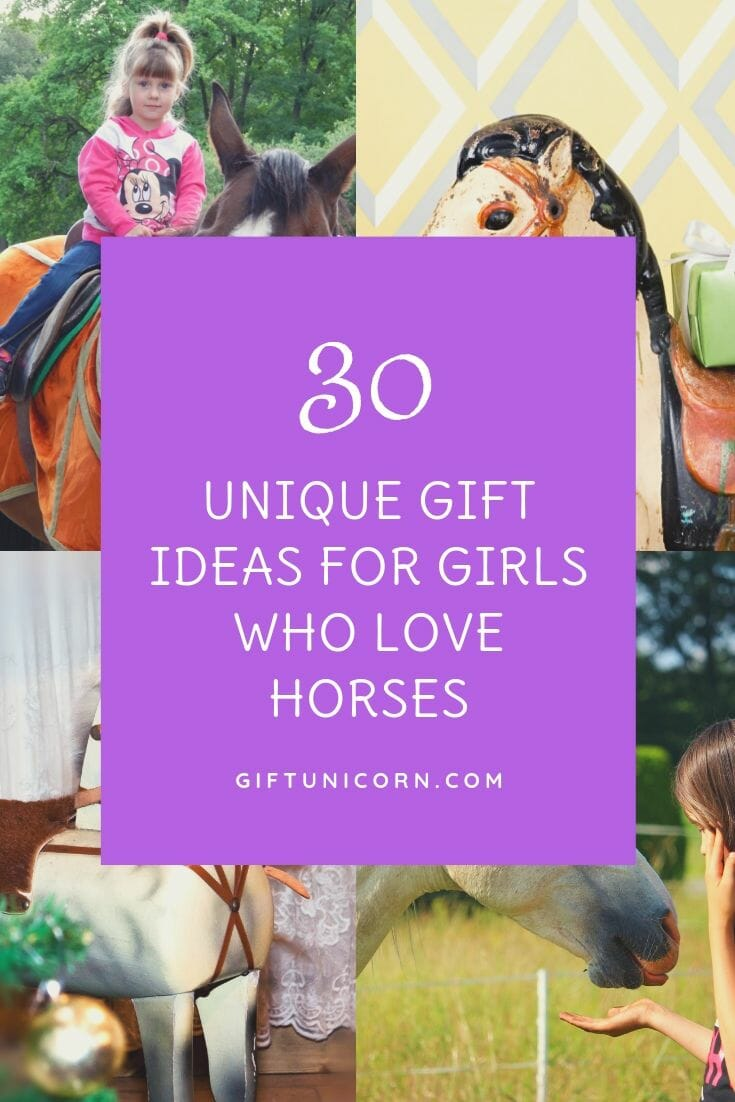 gift ideas for girls who love horses pin image