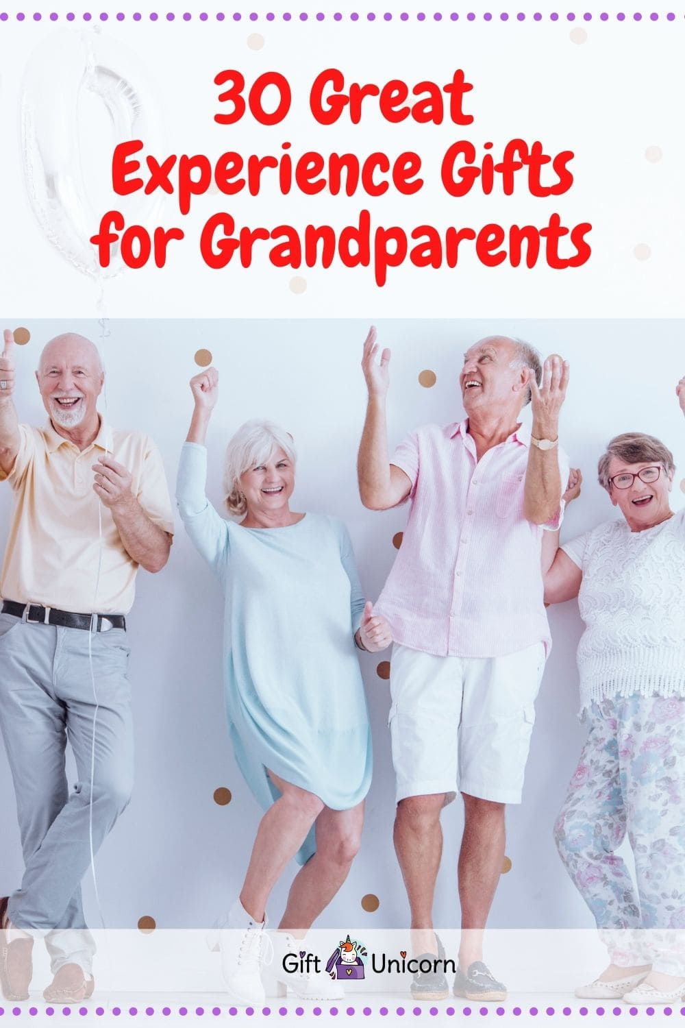 grandparents experience gifts pin image